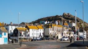 HASTINGS ÖSTLIG SUSSEX/UK - NOVEMBER 06: En Sunny Day i Hastings Arkivbild