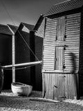 HASTINGS ÖSTLIG SUSSEX/UK - NOVEMBER 06: Fiskares skjul och B Arkivbild