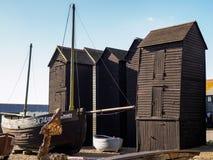 HASTINGS ÖSTLIG SUSSEX/UK - NOVEMBER 06: Fiskares skjul och B Fotografering för Bildbyråer