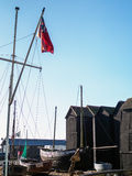 HASTINGS ÖSTLIG SUSSEX/UK - NOVEMBER 06: Fiskares skjul och B Arkivfoto