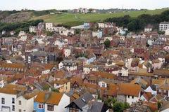 Hastings alte Stadt. stockbilder