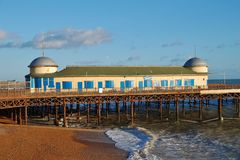 Hastings beach and pier Royalty Free Stock Photo