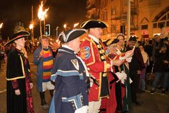 Hastings Bonfire Night and Parade 14 October 2017 Royalty Free Stock Photos