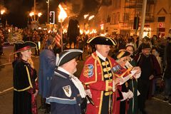 Hastings Bonfire Night and Parade 14 October 2017 Stock Photography