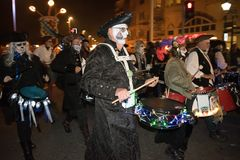 Hastings Bonfire Night and Parade 14 October 2017 Royalty Free Stock Images