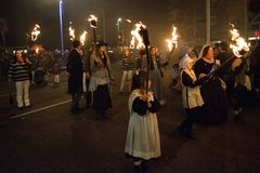 Hastings Bonfire Night and Parade 14 October 2017 Stock Photos