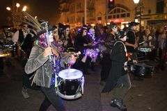 Hastings Bonfire Night and Parade 14 October 2017 Royalty Free Stock Photography