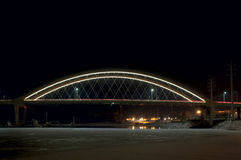 Hastings Bridge Illuminated at Night Stock Photography