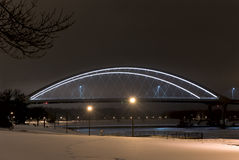 Hastings Bridge and Park at Night Royalty Free Stock Photo