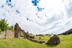Hastings Castle from fisheye Royalty Free Stock Image