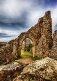 Hastings Castle in the town of Hastings, East Sussex. Royalty Free Stock Photos