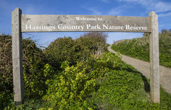 Hastings Country Park Nature Reserve Stock Photo
