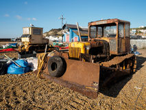 HASTINGS, EAST SUSSEX/UK - NOVEMBER 06 : Bulldozerst on the  Bea Stock Photos