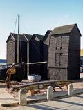 HASTINGS, EAST SUSSEX/UK - NOVEMBER 06 : Fishermen's Sheds and B Royalty Free Stock Photos