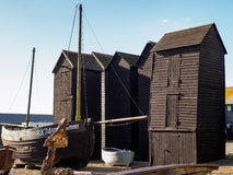 HASTINGS, EAST SUSSEX/UK - NOVEMBER 06 : Fishermen's Sheds and B Stock Image