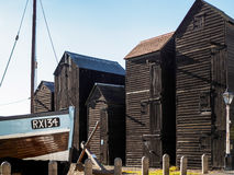 HASTINGS, EAST SUSSEX/UK - NOVEMBER 06 : Fishermen's Sheds and B Royalty Free Stock Images