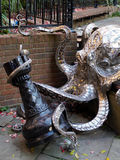 HASTINGS, EAST SUSSEX/UK - NOVEMBER 06 : Leigh Dyer's Octopus At Royalty Free Stock Photography