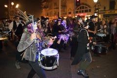 Hastings-Feuer-Nacht und Parade am 15. Oktober 2017 Lizenzfreie Stockfotografie