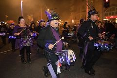 Hastings-Feuer-Nacht und Parade am 15. Oktober 2017 Lizenzfreies Stockfoto