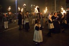 Hastings-Feuer-Nacht und Parade am 15. Oktober 2017 Stockfotos