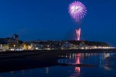Hastings-Feuerwerk Finalie im August 2016 Stockbild