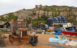 Hastings fisherman boats Stock Images