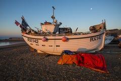 A Hastings fishing boat at dawn royalty free stock photos
