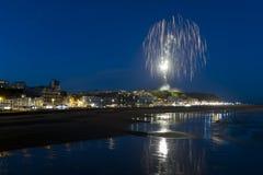 Hastings fuego artificial Finalie agosto de 2016 Fotografía de archivo libre de regalías