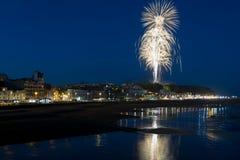 Hastings fyrverkeri Finalie Augusti 2016 Arkivbild