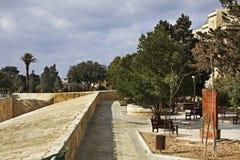 Hastings gardens in Valletta. Malta Stock Image
