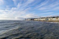 Hastings havsframdel från pir Arkivfoton