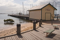 Hastings Jetty Fish Shed Royalty Free Stock Image