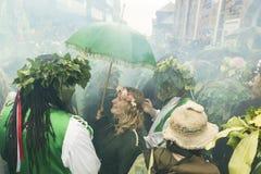 Hastings Mayday Jack στο πράσινο φεστιβάλ 2017 Στοκ Φωτογραφίες