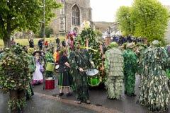 Hastings Mayday Jack στο πράσινο φεστιβάλ 2017 Στοκ Εικόνες