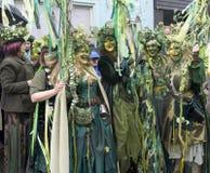 Hastings Mayday Jack w Zielonym festiwalu 2017 zdjęcia stock