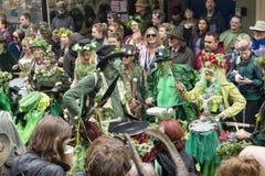 Hastings Mayday Jack w Zielonym festiwalu 2017 obrazy stock