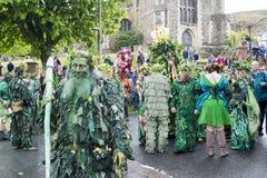 Hastings Mayday Jack w Zielonym festiwalu 2017 fotografia stock
