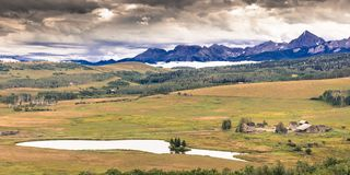 HASTINGS MESA near RIDGWAY AND TELLURIDE COLORADO -famous Last Dollar Ranch in San Juan. Famous, Telluride. HASTINGS MESA near RIDGWAY AND TELLURIDE COLORADO royalty free stock images