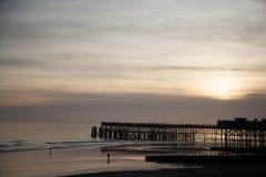 Hastings mola againt światło Obrazy Stock