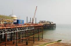 Hastings mola odbudowa Zdjęcie Royalty Free
