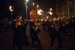 Hastings ogniska noc i Paraduje 15 2017 Października zdjęcia royalty free