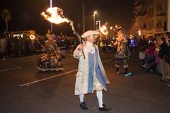 Hastings ogniska noc i Paraduje 15 2017 Października obraz royalty free