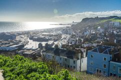 Hastings par la mer Photos stock