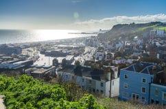 Hastings pelo mar fotos de stock