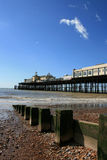 Hastings Pier in distance, East Sussex Stock Photos