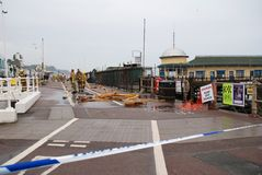 Hastings pier fire Royalty Free Stock Photo