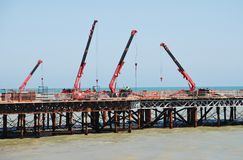 Hastings pier rebuilding Royalty Free Stock Photography
