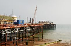 Hastings Pier reconstruction Royalty Free Stock Photo