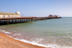 Hastings pier, was burnt down in october 2010 Stock Photo
