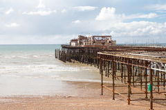 Hastings pier, was burnt down in october 2010 Royalty Free Stock Photos